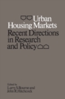 Image for Urban Housing Markets: Recent Directions in Research and Policy
