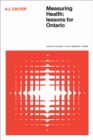 Image for Measuring Health: Lessons for Ontario