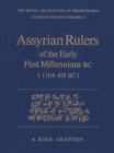 Image for Assyrian Rulers of the Early First Millennium BC I (1114-859 BC) : v.2