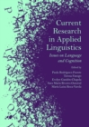 Image for Current research in applied linguistics: issues on language and cognition
