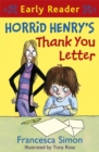 Image for Horrid Henry's thank you letter