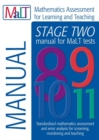 Image for Malt Stage Two (Tests 8-11) Manual (Mathematics Assessment for Learning and Teaching)