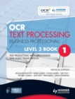 Image for OCR text processing (business professional)Book 1,: Level 3 : Level 3, bk. 1