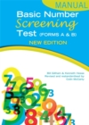 Image for Basic number screening test (forms A & B) for ages 6 to 12: Manual