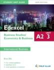 Image for Edexcel A2 business studiesUnit 3,: Economics & business