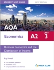 Image for AQA A2 economics student unit guideUnit 3,: Business economics and the distribution of income
