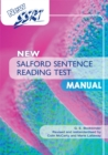 Image for New Salford Sentence Reading Test manual