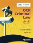 Image for OCR criminal law for A2