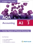 Image for AQA A2 accountingUnit 3,: Further aspects of financial accounting