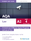 Image for AQA A2 law.: (Criminal law (offences against property) and law of tort) : Unit 4 (sections A & B),