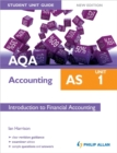 Image for AQA AS accountingUnit 1,: Introduction to financial accounting : Unit 1