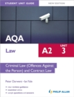 Image for AQA A2 lawUnit 3,: Criminal law (offences against the person) and contract law