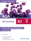 Image for AQA A2 accountingUnit 4,: Further aspects of management accounting