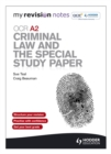 Image for OCR A2 criminal law and the special study paper