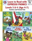 Image for Learn to Read with Espresso Phonics Levels 3&4 (Age 4-7): Teachers and Parents Pack