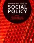 Image for An introduction to social policy