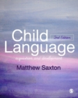 Image for Child language  : acquisition and development