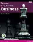 Image for BTBTEC Nationals Business Student Book 1 + ActiveBook: For the 2016 specifications
