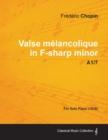 Image for Valse Melancolique in F-sharp Minor A1/7 - For Solo Piano (1838)