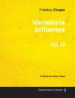 Image for Variations Brillantes Op.12 - For Solo Piano