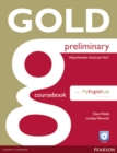 Image for GOLD PRELIMINARY BOOK W/ MEL   COURSEBOOK W/ MEL    796204