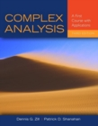 Image for Complex analysis  : a first course with applications