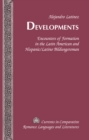 Image for Developments: encounters of formation in the Latin American and Hispanic/Latino bildungsroman : v. 205