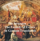 Image for Die Irrungen oder die Doppelten Zwillinge (The Comedy of Errors in German translation)