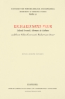 Image for Richard sans Peur: Edited from Le Romant de Richart and from Gilles Corrozet's Richart sans Peour