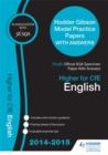 Image for SQA Specimen Paper 2014 Higher for CFE English & Hodder Gibson Model Papers
