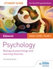 Image for Edexcel Psychology Student Guide 2: Biological psychology and learning theories