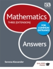 Image for Mathematics for Common EntranceThree (extension),: Answers : Three (extension)