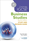 Image for Cambridge IGCSE business studies study and revision guide