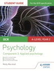 Image for OCR psychologyStudent guide 3, component 3,: Applied psychology