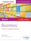 Image for Edexcel A-level business.: (Global business) : Theme 4.