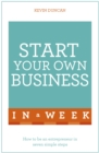 Image for Start your own business in a week