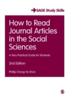 Image for How to read journal articles in the social sciences  : a very practical guide for students