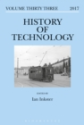 Image for History of Technology Volume 33 : Volume 33