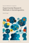 Image for Experimental research methods in sociolinguistics