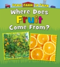 Image for Where does fruit come from?