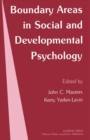 Image for Boundary Areas in Social and Developmental Psychology