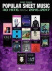 Image for Popular Sheet Music : 30 Hits From 2015-2017
