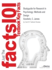 Image for Studyguide for Research In Psychology : Methods and Design by Goodwin, C. James, ISBN 9781118360026
