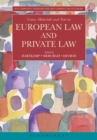 Image for Cases, materials, and text on European law and private law