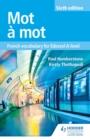 Image for Mot a mot: French vocabulary for Edexcel A-level