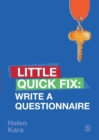 Image for Write a questionnaire