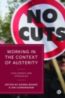 Image for Working in the context of austerity  : challenges and struggles