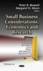 Image for Small Business Considerations, Economics and Research : Volume 10