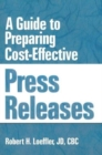 Image for A Guide to Preparing Cost-Effective Press Releases