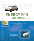 Image for Energy for Sustainability